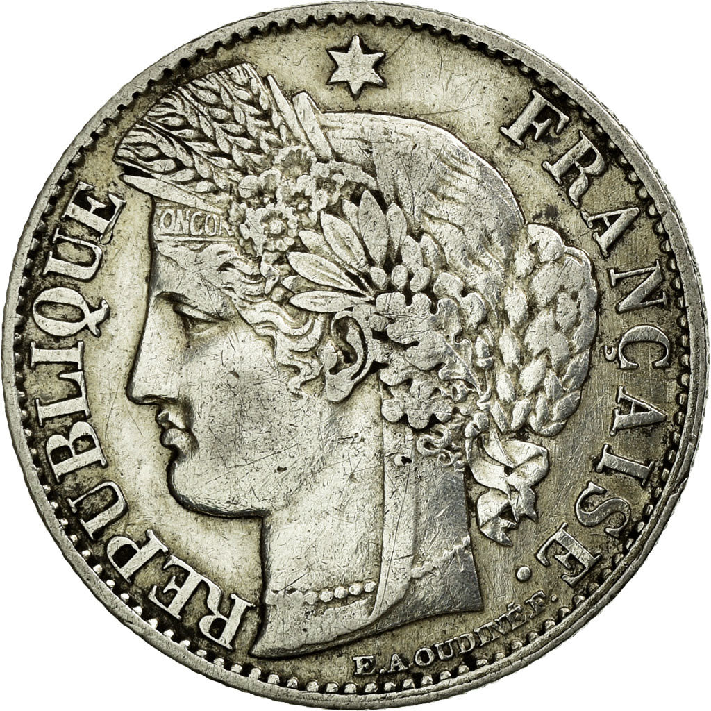 Coin, France, Cérès, 50 Centimes, 1871, Paris, EF(40-45), Silver, KM:834.1