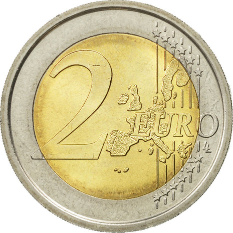 Italy, 2 Euro, European Constitution, 2005, MS(63), Bi-Metallic, KM:245
