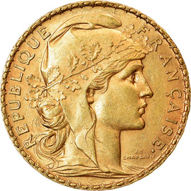 Coin, France, Marianne, 20 Francs, 1902, AU(50-53), Gold, KM:847, Gadoury:1064