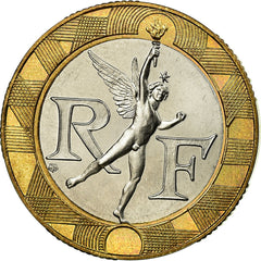 Coin, France, 10 Francs, 1988, MS(65-70), Bi-Metallic, KM:E140, Gadoury:827