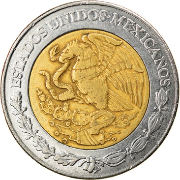 Coin, Mexico, 5 Pesos, 2003, Mexico City, EF(40-45), Bi-Metallic, KM:605