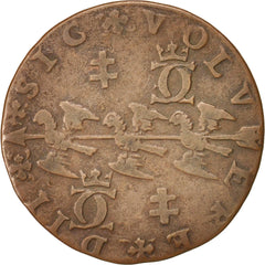 France, Lorraine, Charles III, Token, 1577, EF(40-45), Copper, 26
