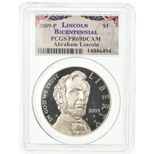 Coin, United States, Dollar, 2009, U.S. Mint, Philadelphia, Lincoln, PCGS
