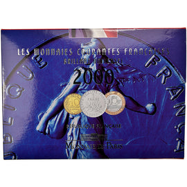 Coin, France, Set, 2000, Paris, MS(65-70)