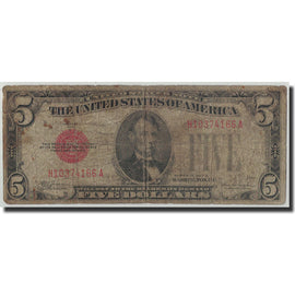 Banknote, United States, Five Dollars, 1928, KM:1644, VG(8-10)