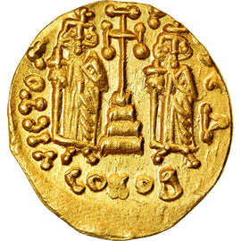 Coin, Constantine IV, Solidus, Constantinople, AU(55-58), Gold, Sear:1154