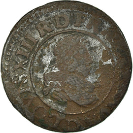 Coin, France, Double Tournois, 1632, Lyon, VF(20-25), Copper