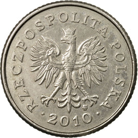 Coin, Poland, 50 Groszy, 2010, Warsaw, EF(40-45), Copper-nickel, KM:281