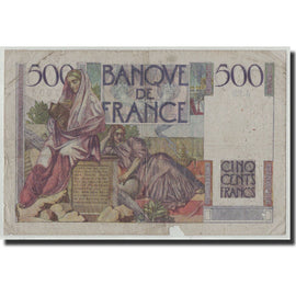 Banknote, France, 500 Francs, 500 F 1945-1953 ''Chateaubriand'', 1945