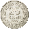 ROMANIA, 25 Bani, 1955, KM #85.3, EF(40-45), Copper-Nickel, 22, 3.51