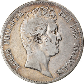 Coin, France, Louis-Philippe, 5 Francs, 1830, Lille, VF(30-35), Silver