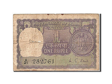 Banknote, India, 1 Rupee, 1949-1951, 1951, KM:73, VG(8-10)