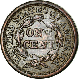 Coin, United States, Braided Hair Cent, Cent, 1846, U.S. Mint, Philadelphia