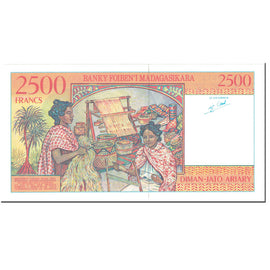 Banknote, Madagascar, 2500 Francs = 500 Ariary, 1998, Undated (1998), KM:81