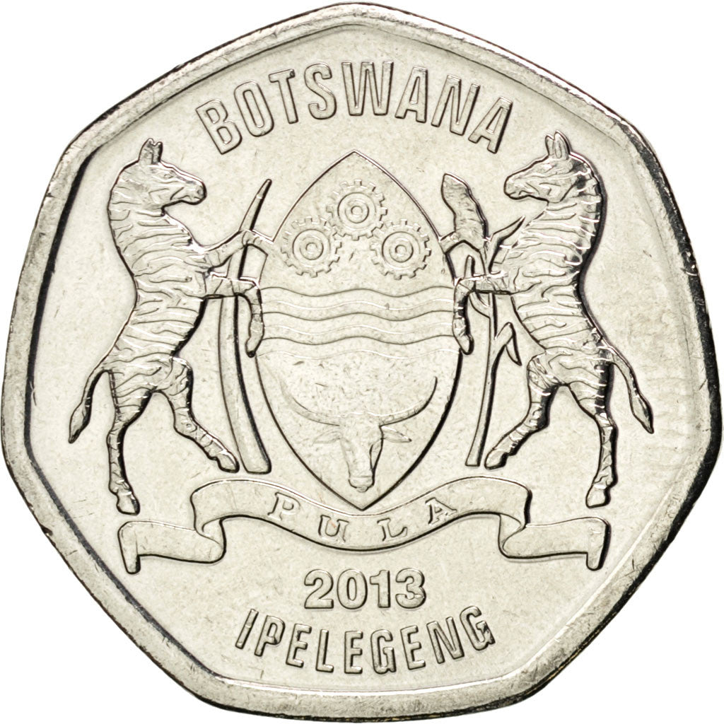 Botswana, 25 Thebe, 2013, KM #New, MS(63), Nickel plated steel, 4.12