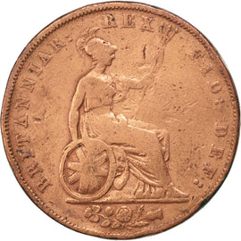 Coin, Great Britain, George IV, 1/2 Penny, 1826, VF(30-35), Copper, KM:692