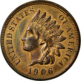 Coin, United States, Indian Head Cent, 1906, Philadelphia, AU(55-58)