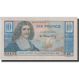 Banknote, French Equatorial Africa, 10 Francs, Undated (1947), KM:21, UNC(60-62)