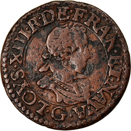 Coin, France, Louis XIII, Double tournois, buste enfantin, Double Tournois