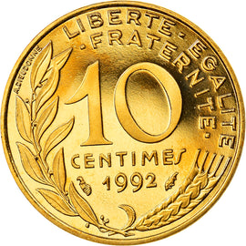 Coin, France, Marianne, 10 Centimes, 1992, Paris, BE, MS(65-70)
