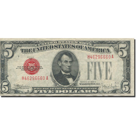 Banknote, United States, Five Dollars, 1928, 1928, KM:1644, AU(55-58)