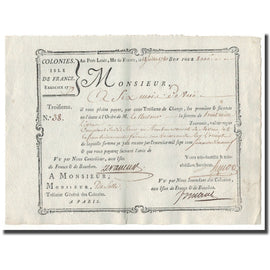 France, Traite, Colonies, Isle de France, 8000 Livres Tournois, 1780, AU(55-58)