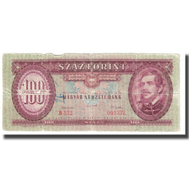 Banknote, Hungary, 100 Forint, 1962, 1962-10-12, KM:174a, VF(20-25)