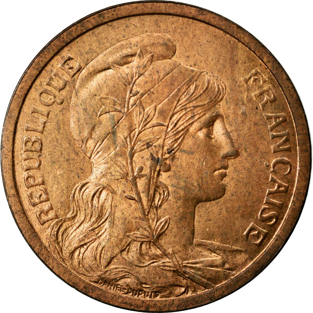 Coin, France, Dupuis, 2 Centimes, 1898, MS(60-62), Bronze, Gadoury:107
