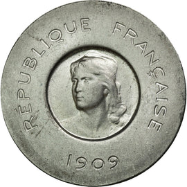 Coin, France, 10 Centimes, 1909, MS(60-62), Aluminium, Gadoury:278