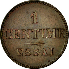 Coin, France, 1 Centime, MS(60-62), Bronze, Gadoury:80