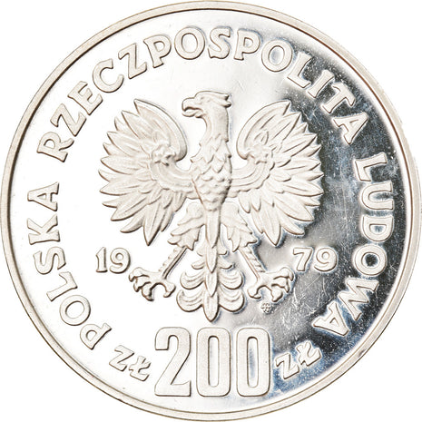 Coin, Poland, 200 Zlotych, 1979, Warsaw, Proof, MS(63), Silver, KM:101