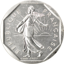 Coin, France, 2 Francs, 1980, MS(63), Silver, KM:P672, Gadoury:123.P2