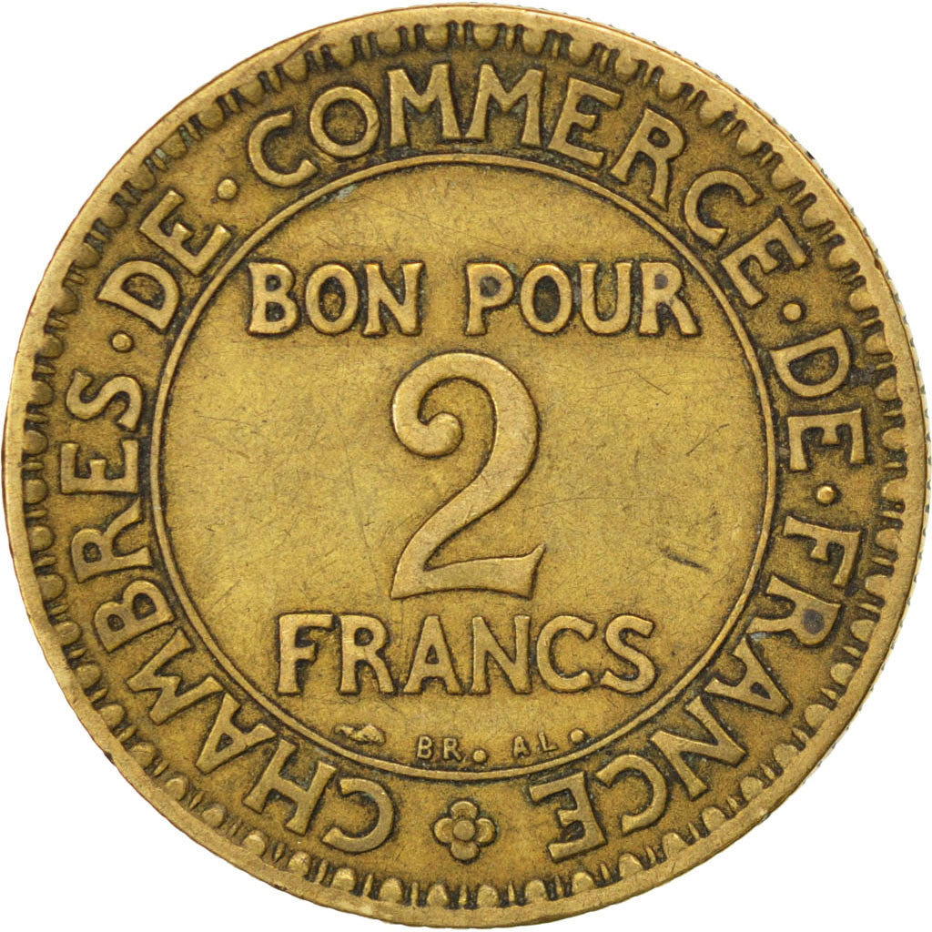 86395 france chambre de commerce 2 francs 1920 for Chambre de commerce de paris