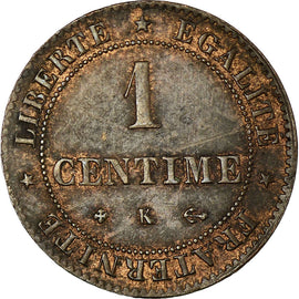 Coin, France, Cérès, Centime, 1872, Bordeaux, AU(55-58), Bronze, KM:826.2