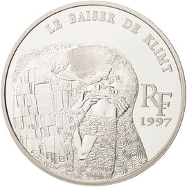 Coin, France, 10 Francs-1.5 Euro, 1997, Paris, MS(65-70), Silver, KM:1299