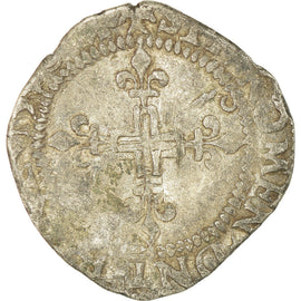 Coin, France, Charles IX, Double Sol Parisis, Uncertain date, Montpellier
