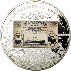 France, Medal, 100ème Anniversaire du Titanic, MS(65-70), Copper Plated Silver