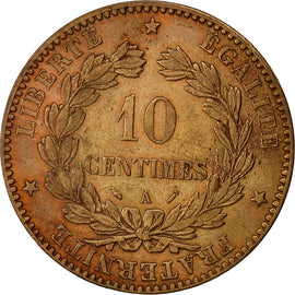 Coin, France, Cérès, 10 Centimes, 1895, Paris, AU(50-53), Bronze, KM 815.1