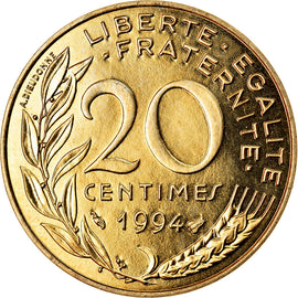 Coin, France, Marianne, 20 Centimes, 1994, Paris, BU, MS(65-70)
