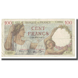 France, 100 Francs, Sully, 1940, P. Rousseau and R. Favre-Gilly, 1940-11-28