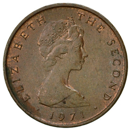 Coin, Isle of Man, Elizabeth II, 1/2 New Penny, 1971, Pobjoy Mint, EF(40-45)
