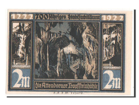 Germany, Westfalen, 2 Mark, 1922, UNC(64), Mehl #51.1b