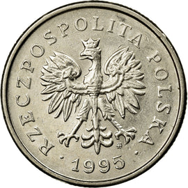 Coin, Poland, Zloty, 1995, Warsaw, AU(55-58), Copper-nickel, KM:282