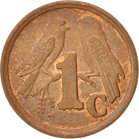SOUTH AFRICA, Cent, 1990, KM #132, MS(63), Copper Plated Steel, 15