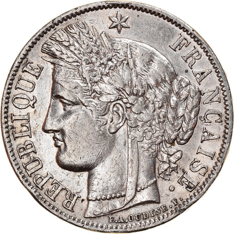 Coin, France, Cérès, 5 Francs, 1851, Paris, VF(30-35), Silver, KM:761.1