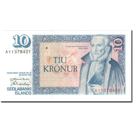 Banknote, Iceland, 10 Kronur, 1981, 1981 (Old Date 1961-03-29), KM:48a