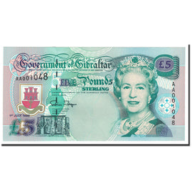 Banknote, Gibraltar, 5 Pounds, 1995, 1995-07-01, KM:25a, UNC(65-70)