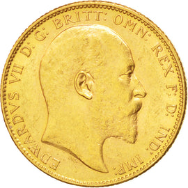 AUSTRALIA, Sovereign, 1906, Melbourne, KM #15, AU(50-53), Gold, 21, 8.00