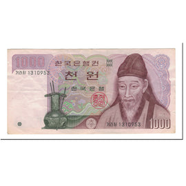 Banknote, South Korea, 1000 Won, 1975, KM:44, AU(50-53)