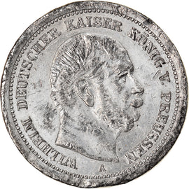 Coin, Germany, Wilhelm I, 5 Mark, Essai Piéfort Uniface, AU(50-53), Tin